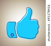hand sign illustration. vector. ... | Shutterstock .eps vector #691178416