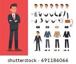 businessman character vector... | Shutterstock .eps vector #691186066