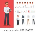 businessman character vector... | Shutterstock .eps vector #691186090