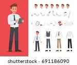 businessman character vector... | Shutterstock .eps vector #691186090