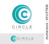 circle initial letter c logo... | Shutterstock .eps vector #691197838