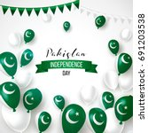 14th august. pakistan happy... | Shutterstock .eps vector #691203538