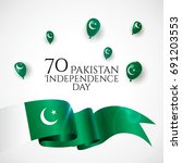 14th august. pakistan happy... | Shutterstock .eps vector #691203553