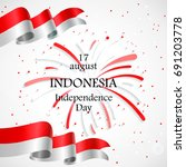 17 august. indonesia happy... | Shutterstock .eps vector #691203778