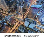 road traffic in city at... | Shutterstock . vector #691203844