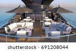 3d cg rendering of the cruiser   Shutterstock . vector #691208044
