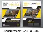 business brochure. flyer design.... | Shutterstock .eps vector #691208086