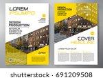 business brochure. flyer design....   Shutterstock .eps vector #691209508