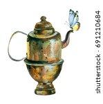 watercolor painting.... | Shutterstock . vector #691210684