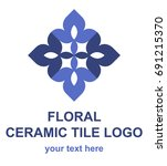 ceramic tile symbol. ornamental ... | Shutterstock .eps vector #691215370