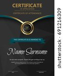 certificate and diploma... | Shutterstock .eps vector #691216309