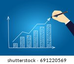 business hand drawn growth... | Shutterstock .eps vector #691220569