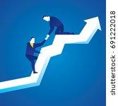 business illustration concept... | Shutterstock .eps vector #691222018