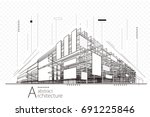 abstract construction... | Shutterstock .eps vector #691225846