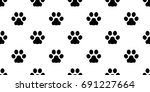 dog paw cat paw kitten puppy... | Shutterstock .eps vector #691227664
