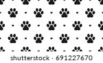 dog paw cat paw kitten puppy... | Shutterstock .eps vector #691227670