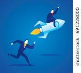 business illustration concept... | Shutterstock .eps vector #691228000