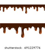 melted chocolate seamless...   Shutterstock .eps vector #691229776