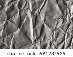 texture of crumpled gray paper | Shutterstock . vector #691232929