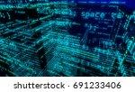 hi tech 3d rendering of some... | Shutterstock . vector #691233406