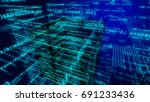sci fi 3d illustration of some...   Shutterstock . vector #691233436
