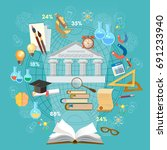 education infographics concept... | Shutterstock .eps vector #691233940