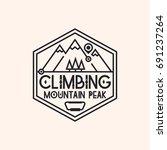 climbing logo consisting of... | Shutterstock . vector #691237264