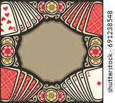 vector poster for poker gamble  ... | Shutterstock .eps vector #691238548