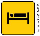 hotel sign yellow. vector. | Shutterstock .eps vector #691241290