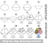 kid game to develop drawing... | Shutterstock .eps vector #691243420