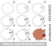 kid game to develop drawing... | Shutterstock .eps vector #691243423