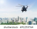 image of army helicopter flying ...   Shutterstock . vector #691253764