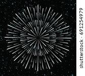 black sunburst vector   vintage ... | Shutterstock .eps vector #691254979
