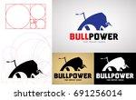 bull power logo design for... | Shutterstock .eps vector #691256014