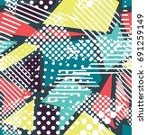 pop art vector seamless pattern ... | Shutterstock .eps vector #691259149