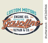 custom motors repair   co   tee ... | Shutterstock .eps vector #691260466