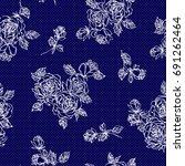 flower illustration pattern | Shutterstock .eps vector #691262464