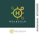 molecule initial letter h logo... | Shutterstock .eps vector #691262650