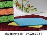 kitchen sponges  cellulose... | Shutterstock . vector #691263754