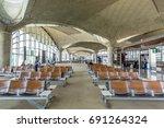 Small photo of Amman, Jordan, July 17th, 2017, Interiors of boarding gate of Queen Alia International Airport (QAIA) in Jordan.