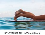 happy girl in bikini have fun... | Shutterstock . vector #691265179