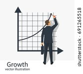 growth graph concept.... | Shutterstock .eps vector #691265518