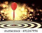 target dart with arrow over... | Shutterstock . vector #691267996