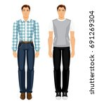 vector illustration of men in... | Shutterstock .eps vector #691269304