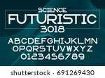 futuristic science set style... | Shutterstock .eps vector #691269430