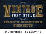 vintage and retro set bold...   Shutterstock .eps vector #691269448