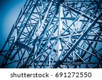 metal structure architectural... | Shutterstock . vector #691272550