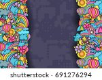 summer cartoon doodle design.... | Shutterstock .eps vector #691276294