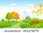vector cartoon drawing of a... | Shutterstock .eps vector #691278370