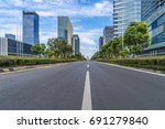 city road through modern... | Shutterstock . vector #691279840